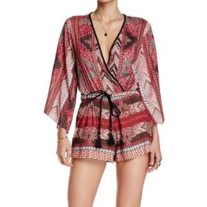 Bohemian Style Romper 3/4 Sleeves Size S